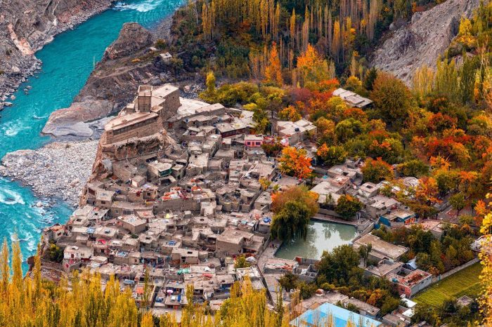 Autumnal Pakistan Hunza Valley